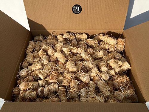 BBQKontor 10kg Premium Anzünder aus Holzwolle Wachs - Grillanzünder Kaminanzünder Ofenanzünder Brennholzanzünder Kaminholzanzünder Holzanzünder Anzündkamin Grill Grillkohle Holzkohle Briketts