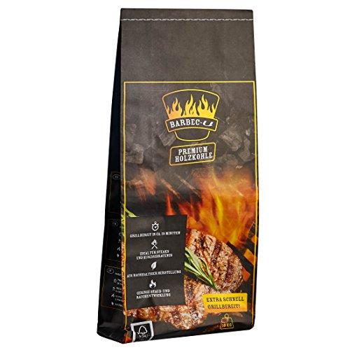 Barbec-U 10 kg Premium Restaurant-Holzkohle Grillkohle grobstückig FSC-zertifiziert hochwertige Kohle zum Grillen