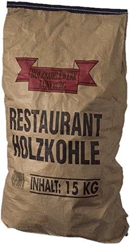 HOLZKOHLE 15KG - Profi-Steakhouse-Grillkohle Quebracho Blanco Viñal - Restaurant-Holzkohle mit extra langer Brenndauer - ideal für den Einsatz im Smoker