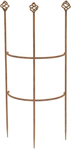 Halbrundes Rankgitter H 70 cm Metall Kletterhilfe Spalier Rankhilfe