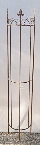 Rankgitter Clematis halbrund aus Metall braun