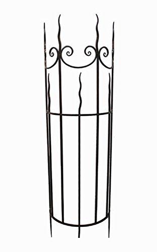 Rankgitter halbrund H 187 cm Metall braun Rankhilfe Spalier