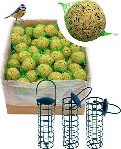 dobar 200 Meisenknödel mit Netz inklusive 3 gratis Meisenknödelhalter zum Aufhängen Wildvogelfutter Vogelfutter ganzjährig 1er Pack 1 x 18 kg