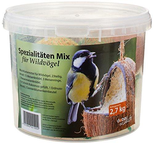 dobar Vogelfutter Spezialitäten-Mix 23-teilig im Eimer Wildvogelfutter Meisenknödel Sonnenblumenkerne 1er Pack 1 x 27 kg