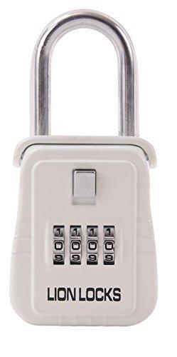 Lion Locks 1500 Key Storage Lock Box with Set Your Own Combination White by Lion Locks