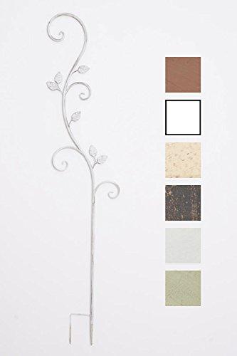 CLP Pflanzen-Rankstab Arosa aus Eisen I Rankhilfe mit Einer Höhe von 125 cm I Rankstange für Kletterpflanzen I In Verschiedenen Farben erhältlich Antik Weiß