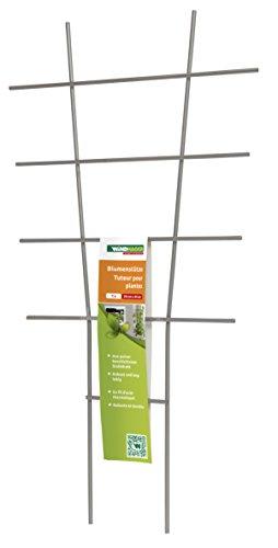 Windhager Blumenstütze Rankhilfe Gitterspalier Rankgitter für Topfpflanzen Metall grau 44 x 24 cm 05708