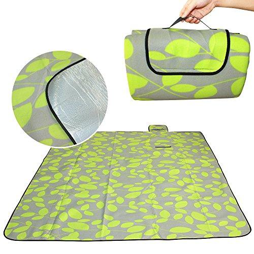ParaCity extra große weiche Polyester Wasserdicht Fleece-Picknick-Decke tragbare Aluminium mit Matte Box für Camping Outdoor Grill und Reisen Strand