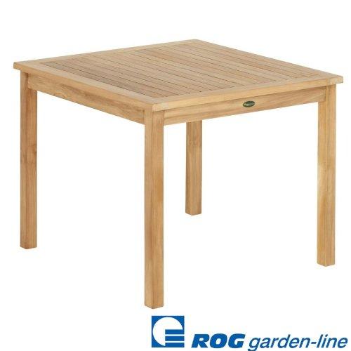 ROG garden-line TL8132 TEAK TISCHCARDIFF FEST 90x90 CM