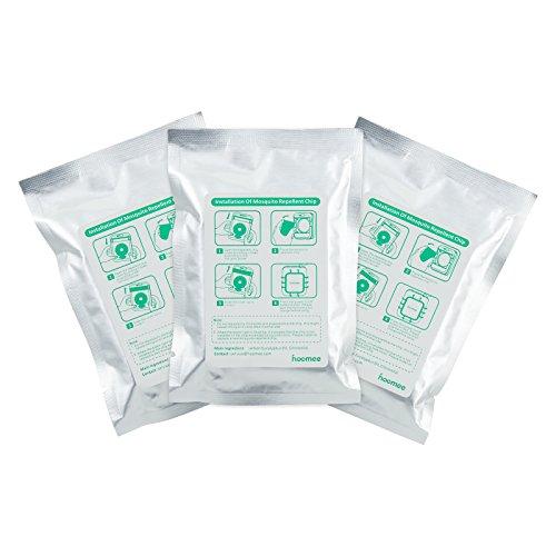 HOOMEE Aroma Chips Für Hoomees Ultraschall Mückenabwehr  Natürlicher Moskito-Abwehrstoff  Sicher Und Natürlich  Frei Von DEET Und Chemikalien Ersatzchips