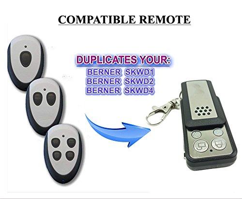 Berner Garagentor Fernbedienung Handsender Geeignet für SKX1WDSKX2WDSKX3WD Kompatibel Ersatz sender Fixed code 43392mhz