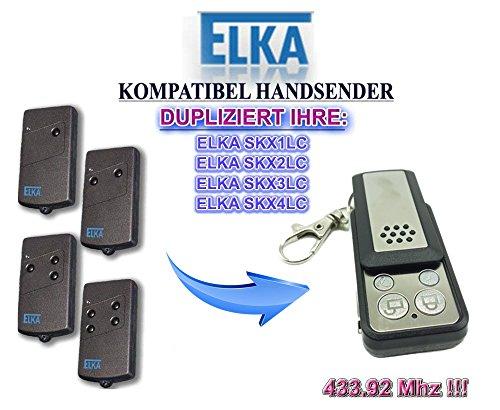 ELKA Universal Garagentor Fernbedienung Sender Geeignet für SKX1LC SKX2LC SKX3LC SKX4LC 4 Kanal Kompatibel Handsender 43392 Mhz