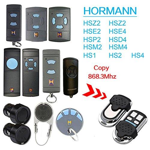 Kompatibel 868 Mhz Hormann Hsm2  Hsm4  Hs1  Hs2  Hs4  Hse2  Hsz1  Hsz2  Hsp4  Hsp4 868-c  Hsd2-A  Hsd2-c Garagentor Handsender Ersatz - Fix code Sender Klonen Universal