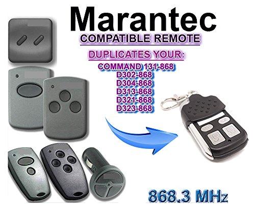 Kompatibel Marantec D382D384D302D304D313D321323COMMAND 131 Handsender Ersatz - 4 Kanal Garagentor Fernbedienung Sender 8683 Mhz