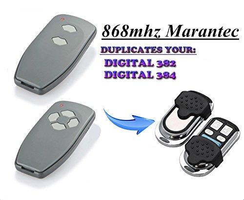 Kompatibel Marantec D382  D384 Handsender Ersatz - 4 Kanal Garagentor Fernbedienung Sender 8683 Mhz
