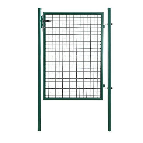 protec Gartentür 175x106 grün Gartentor Zauntür Gartenpforte Gartenzaun Tür
