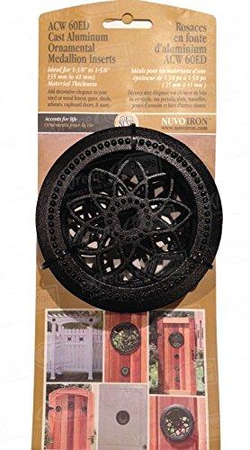 Nuvo Eisen rund acw60ed-ornamental Medaillon Einsatz Zaun Tore Türen