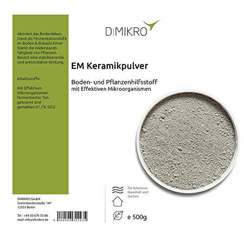 DIMIKRO EM Keramikpulver - mit Effektiven Mikroorganismen feinst zermahlenes Keramik Pulver 05 kg