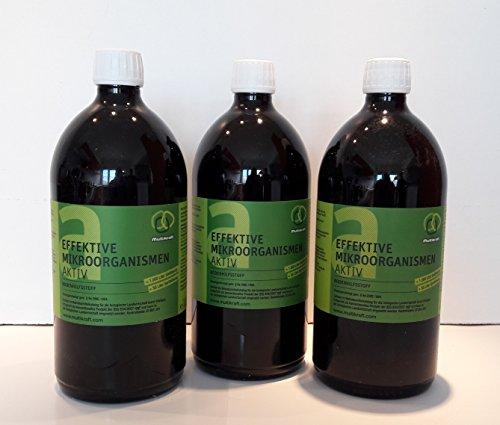 Effektive Mikroorganismen Aktiv EM-Aktiv Bodenhilfsstoff - Dünger 3 X 1 l Fl