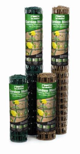 Apollo Rostfreie Rankhilfe für Kletterpflanzen mit 50-mm-Maschen hellbraun