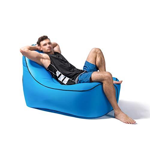 JIE KE Faules Sofa - aufblasbares Innen- oder Couch-einzelnes Luft-Schlafenbett im Freien Bequemes Sofa Farbe  Blau