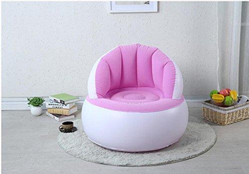 LHL-SF Aufblasbares Sofa Sitzsack Stuhl Klappbare Einzel Sofa kreative Nette kleine Sofa Erwachsene Schlafzimmer Sofa im Wohnzimmer Farbe  Pink