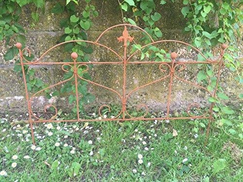 Gerry Beetzaun Gartenzaun Rankhilfe Metall Eisen Rost Deko 46cm hoch x 60cm lang