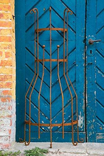 KUHEIGA Wandrankgitter RoheisenRost H 150cm Rankgitter aus Metall Rankhilfe