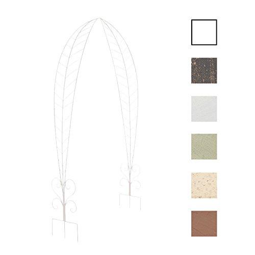 CLP Rosenbogen Ellen I Rankhilfe aus beschichtetem Eisen I Romantischer Rankenbogen I In Verschiedenen Farben erhältlich Weiß