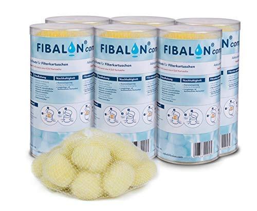 6 x Whirlpool FilterKartuschen Filter FIBALON compact 50g - gelbe FilterbälleFilterkartuschen für Pools und Whirlpools