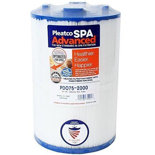 Filterkartusche Kartusche Whirlpool Filter Lamellenfilter Pleatco PDO75-2000 Darlly 70759 Filter4Spas SC730 Unicel C-7367 Filbur FC-3059 Magnum D1-TY75