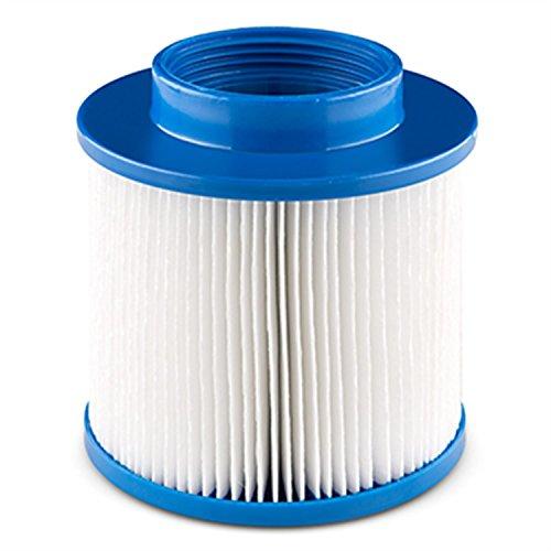blumfeldt Clearance Ersatzfilter Shangrila SpaWhirlpool Filterkartusche mit Schraubgewinde Zubehör Ersatz Maße 102 x 11 cm weiß-blau