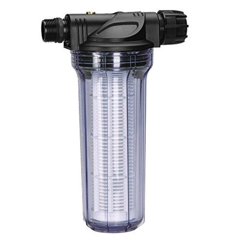 GARDENA Pumpen-Vorfilter für Wasserdurchfluss bis 6000 lh Effektiver Filter für Gartenpumpen und Hauswasserautomaten mit Filtereinsatz 1730-20