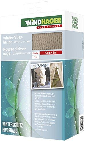 Windhager Winter-Vlies Superprotect XXL Thermovlies Kälteschutz Frostschutz für Pflanzen Beige 14 x 2 m 70 gm² 06732
