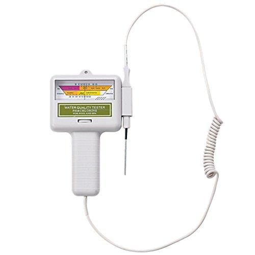 Jilong Batterie Pool Wassertester Pooltester Wasseranalyse Messgerät für Wasserqualität mit Chlor PH Wert Anzeige