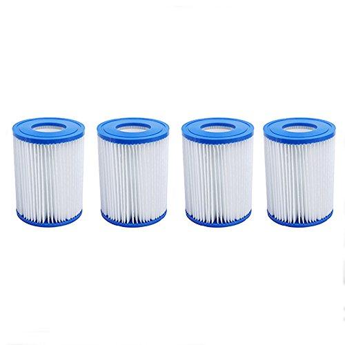 First4Spares Größe 2 Filter-Kartuschen für PoolBestway Lay-Z-SpaHot TubsFlowclear Pumps 4 Stück