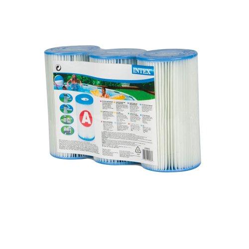 INTEX Filterkartusche Typ A 20 cm Aussen Ø 107 cm Innen Ø 47 cm 3er Pack  Filter Kartusche Poolfilter Ersatzfilter Poolpumpe Lamellenfilter 3er Set