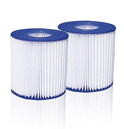 Summer Waves 2X Pool Papierfilter Filter Kartuschen Kartuschenfilter Typ D