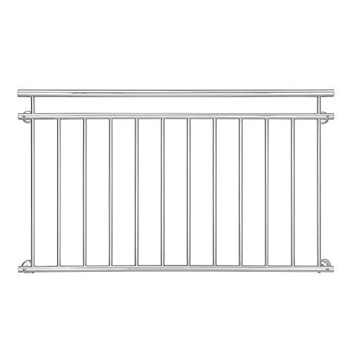 casapro Französischer Balkon 90x156cm Stahl Geländer Fenster Gitter Stabgeländer