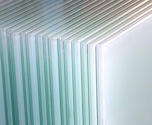 10 Stück VSG-Sicherheitsgläser Milchglas 1200mm x 800mm x 876mm Verbundglas Verbundsicherheitsglas Balkon Balkongeländer Geländer Edelstahlgeländer Glasscheiben Sicherheitsglas 8mm