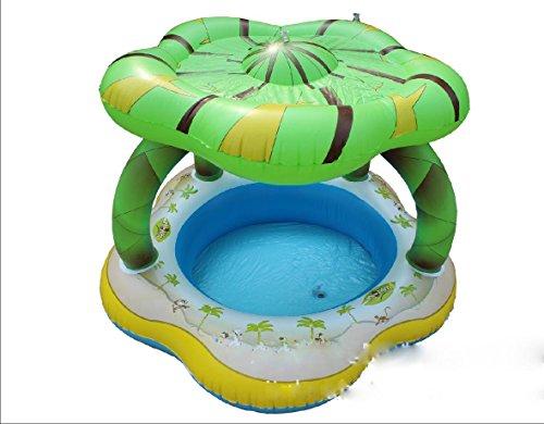 FACAI888 Aufblasbare Schwimmbecken aufblasbare Kinderbecken Lotusblatt grüne Flasche Pool