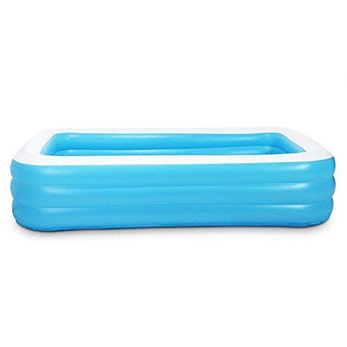 GUOHONG-CX Aufblasbares Schwimmbecken Grün PVC Kunststoff übergroße Pool Kinder Zu Hause Verdickung Baby Schwimmen Badewanne Erwachsenen Familie Baden Pool 290  173  60cm