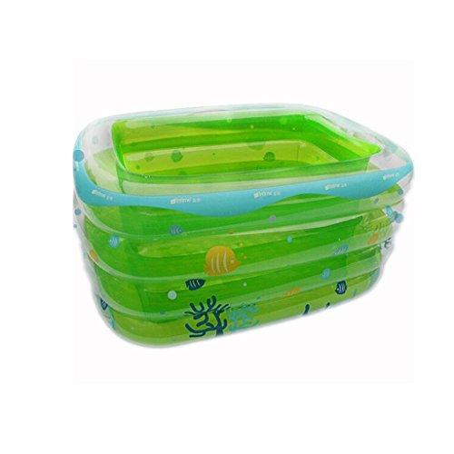 HUANGDA Badewanne für Kleinkinder und Kinder Aufblasbares Schwimmbecken Dicker Seitenauszug Kinderbecken Aufblasbares Bad Farbe blau grün Größe 120 cm Color  Blue