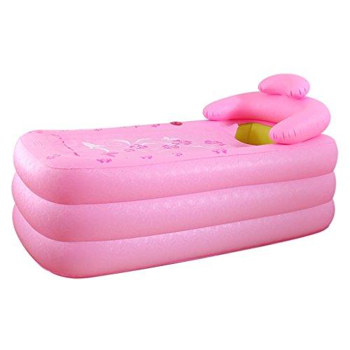 Home Aufblasbare Schwimmbäder Aufblasbare Badewanne Eindickung Erwachsene Badewanne Faltbare Kind nehmen Sie ein Bad Badewanne Kunststoff Bad Fässer Geschenk Four Seasons Grün Rosa WXP-Schwimmbecken  Farbe  Pink