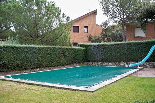 International Cover Pool Winterabdeckung für Schwimmbecken mit 13 x 6 Metern Winterschutzabdeckung aus PVC mit 650 gm2 1390x690 Metros Grün AußenGrün Innen