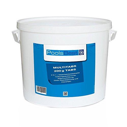 10 Kg - PoolsBest Chlor Multitabs 5in1 200g Tabs