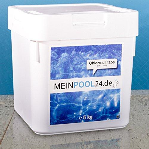10 kg 2 x 5 kg Chlor Multitabs 200 g 5 in 1 von Meinpool24de - Markenqualität zum Toppreis