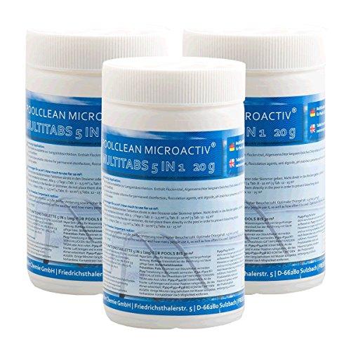Höfer Chemie Chlor Multitabs 20g für Pool Spa 6 x 1 kg BAYZID Poolpflege - HOCHWIRKSAM