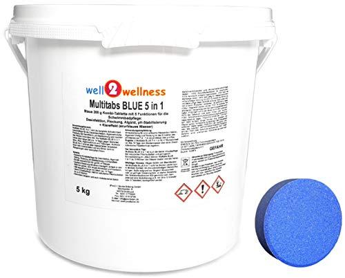 well2wellness Chlor Multitabs Blue 5 in 1  Blaue Multitabs 5 in 1 200g - 50 kg