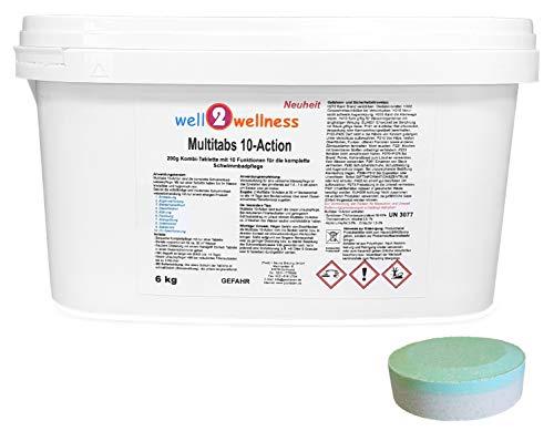 well2wellness Chlortabletten Multitabs 10-Action 200g mit 10 Funktionen - 60 kg